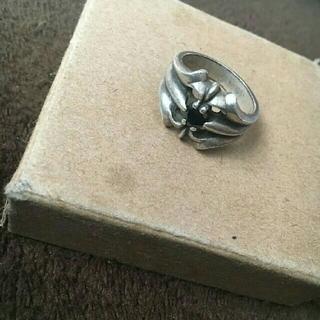 クロムハーツ(Chrome Hearts)のクロムハーツ リング 黒い石入り(リング(指輪))