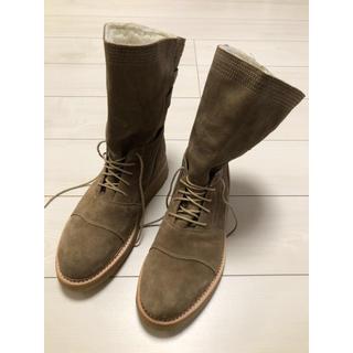 バルマン(BALMAIN)のBALMAIN バルマンオム 新品 内ボア スウェード ブーツ  サイズ42(ブーツ)