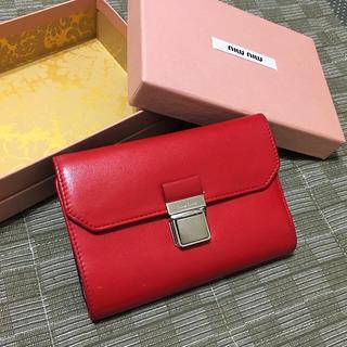 ミュウミュウ(miumiu)の美品 ミュウミュウ 財布 (財布)