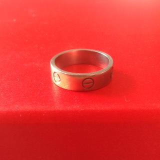 カルティエ(Cartier)のCartier カルティエ ラブリング K18WG 60 19号 9.18g(リング(指輪))