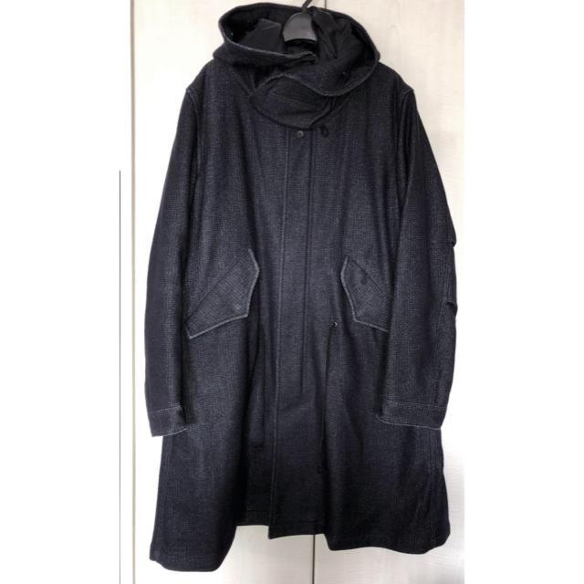 Edition(エディション)のEdition / TOMORROWLAND / ウールデニムモッズコートM メンズのジャケット/アウター(モッズコート)の商品写真