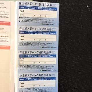 東急不動産株主優待券(フィットネスクラブ)