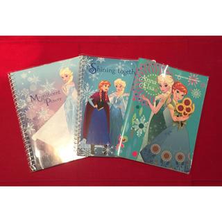 ディズニー(Disney)のDisney アナ雪 ノート三冊セット(ノート/メモ帳/ふせん)