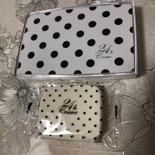 ニジュウヨンエイチコスメ(24h cosme)の24Hファンデーションケース、スポンジ(ファンデーション)
