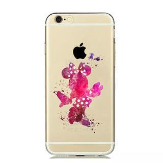 ディズニー(Disney)のiPhone ケース ♡ 水彩 ミニーちゃん(iPhoneケース)