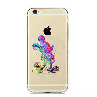 ディズニー(Disney)のiPhone ケース ♡ 水彩 ミッキー(iPhoneケース)