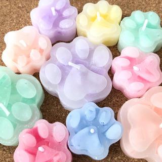 【色と香りが選べる】肉球キャンドル(アロマ/キャンドル)