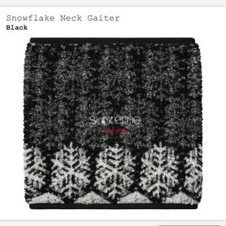 シュプリーム(Supreme)のsupreme snowflake neck gaiter ブラック(ネックウォーマー)