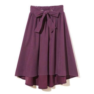 グレイル(GRL)のウエストリボンイレヘムフレアスカート(ひざ丈スカート)