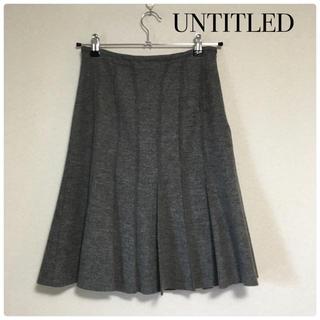 アンタイトル(UNTITLED)の【UNTITLED】チュールスカート プリーツスカート(ひざ丈スカート)