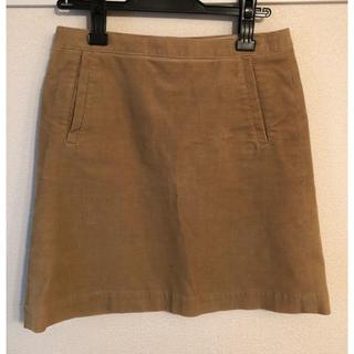 マカフィー(MACPHEE)の【Tomorrowland MACPHEE】キャメルコーデュロイスカート(ひざ丈スカート)