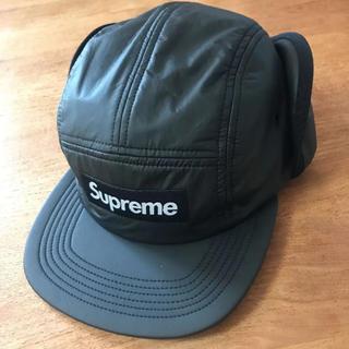 シュプリーム(Supreme)のSupreme  キャップ 耳つき cap box logo ブラック(キャップ)