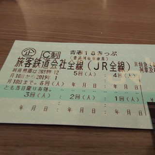 返却不要 青春18きっぷ 4回分(鉄道乗車券)
