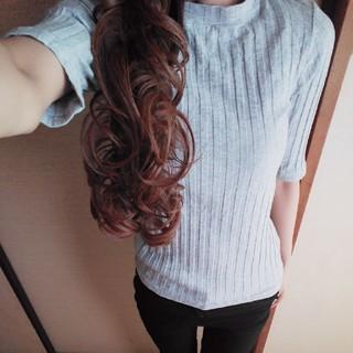 ジーユー(GU)のGUリブハイネック(Tシャツ(半袖/袖なし))