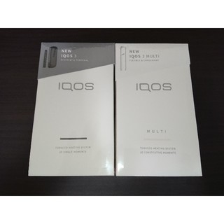 アイコス(IQOS)の新品未登録 アイコス3 本体マルチセット ホワイト グレー(タバコグッズ)
