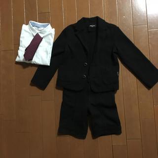 コムサイズム(COMME CA ISM)のコムサ スーツ H&M シャツ&ネクタイ セット 100(ドレス/フォーマル)