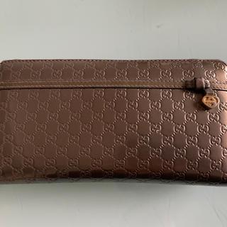 グッチ(Gucci)のGucci 長財布 メタリックグレー(財布)