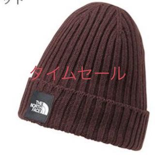 ザノースフェイス(THE NORTH FACE)のノースフェイス ニット帽子 セコイヤレッド 新品(ニット帽/ビーニー)