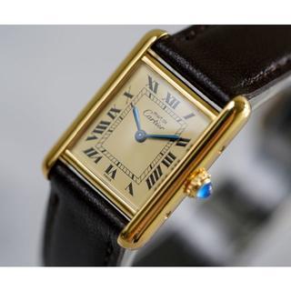 カルティエ(Cartier)の美品 カルティエ マスト タンク アイボリー SM Cartier(腕時計)