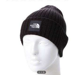 ザノースフェイス(THE NORTH FACE)のノースフェイス ニット帽子ブラック新品(ニット帽/ビーニー)