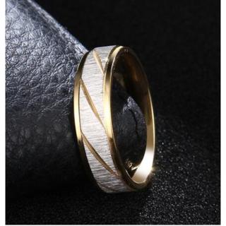 シルバーカラーのフロストトリング (ゴールド)(リング(指輪))