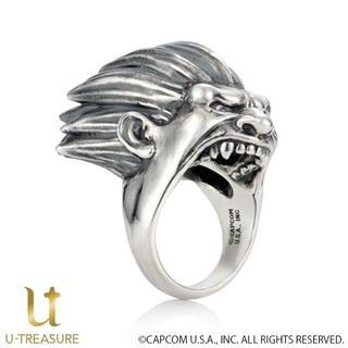 ストリートファイター グッズ ブランカ フェイスリング  指輪 18号 メンズ(リング(指輪))