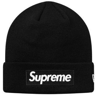 シュプリーム(Supreme)のsupreme new era box logo beanie ボックスロゴ 黒(ニット帽/ビーニー)