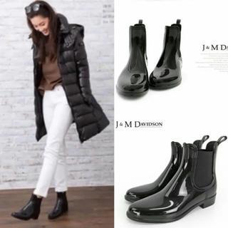 ジェイアンドエムデヴィッドソン(J&M DAVIDSON)の極美品⭐️定価23760円/J&M Davidson サイドゴア レインブーツ(レインブーツ/長靴)