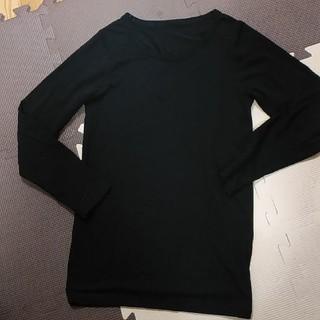 ジーユー(GU)のGU ウォーム インナー 女児 130cm 黒(下着)