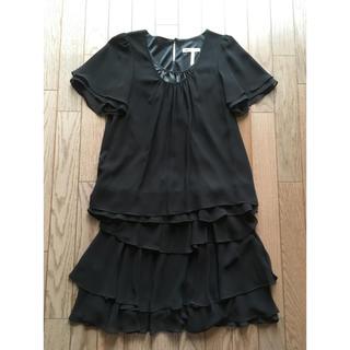 アルファベットアルファベット(Alphabet's Alphabet)の黒色セパレートドレス(ミディアムドレス)