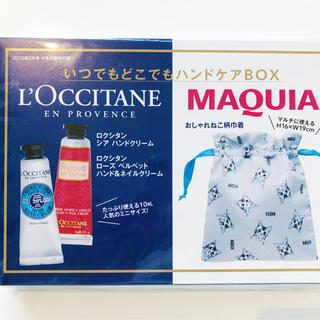 ロクシタン(L'OCCITANE)のマキュア ロクシタンハンドクリーム&おしゃれ猫巾着ポーチセット(ハンドクリーム)