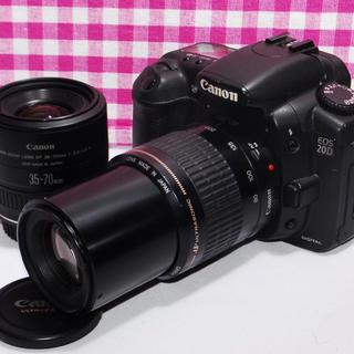 キヤノン(Canon)の❤️思い出いっぱい❤️Canon EOS 20D ダブルレンズ❤️安心保証(デジタル一眼)