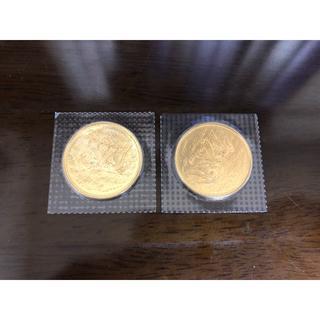 天皇陛下御在位60年記念 10万円金貨 2枚 ①(貨幣)