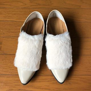 チャイルドウーマン(CHILD WOMAN)のCHILDWOMAN ファーシューズ◎新品(ローファー/革靴)
