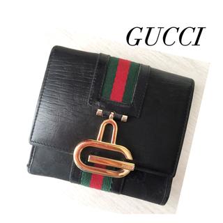 グッチ(Gucci)の綺麗め‼️OLD GUCCI✨シェリーライン❤️ユニセックス 折財布(送料込)(財布)