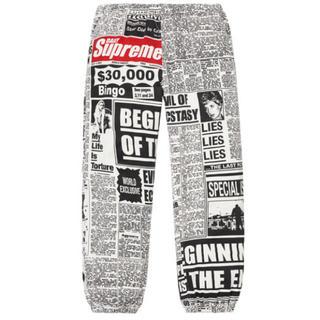 シュプリーム(Supreme)のSupreme Newsprint Skate Pant サイズS 新品 正規品(その他)