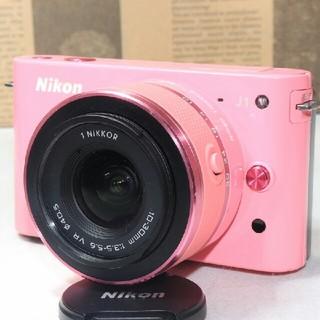 ニコン(Nikon)の❤️希少な限定品  可愛すぎるピンク❤️Nikon J1 レンズキット❤️(ミラーレス一眼)