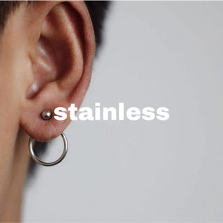 ビームス(BEAMS)のj11.stainless back circle pierce(silver)(ピアス)