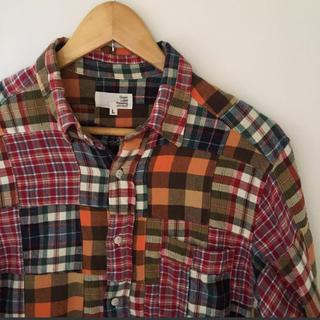 ユナイテッドアローズ(UNITED ARROWS)の女性の方もOK★古着★UNITED ARROWSパッチワークシャツ★Lサイズ(シャツ)