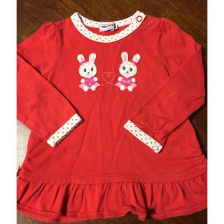 ミキハウス(mikihouse)のミキハウス 長袖チュニック サイズ90(Tシャツ/カットソー)