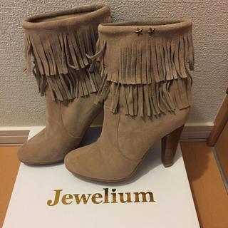 ジュエリウム(JEWELIUM)のフリンジ ショートブーツ Mサイズ(ブーツ)