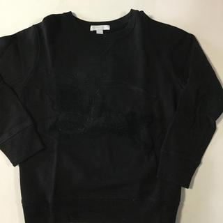 バーバリー(BURBERRY)のバーバリー トレーナー 130 黒 ホースマーク刺繍(Tシャツ/カットソー)