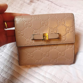 グッチ(Gucci)のグッチ サーモンピンク財布(財布)