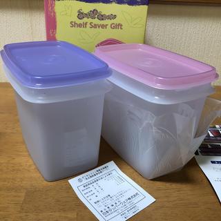 タッパーウェア    シェルフセーバー  2個(容器)