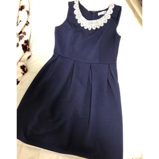 デイジーストア(dazzy store)の美品  ストーン付き  ドレス L(ミディアムドレス)