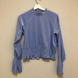 ジーユー(GU)の袖フリル ブラウス(シャツ/ブラウス(長袖/七分))