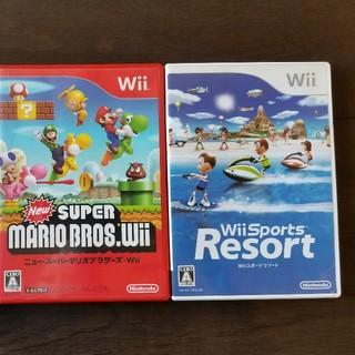 任天堂 - スーパーマリオブラザーズ Wii Wiiスポーツresort