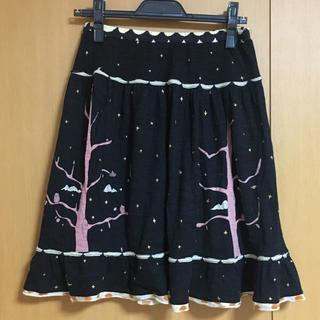 ツモリチサト(TSUMORI CHISATO)のツモリチサトフクロウの森スカート(ひざ丈スカート)