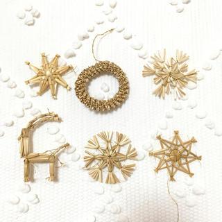 アクタス(ACTUS)の新品未使用 ストローオーナメント クリスマス 北欧(インテリア雑貨)