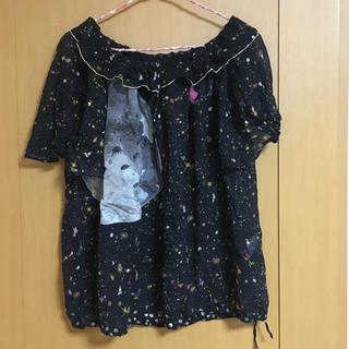 ツモリチサト(TSUMORI CHISATO)のツモリチサトトーキョーナイトシルクブラウス黒(シャツ/ブラウス(半袖/袖なし))